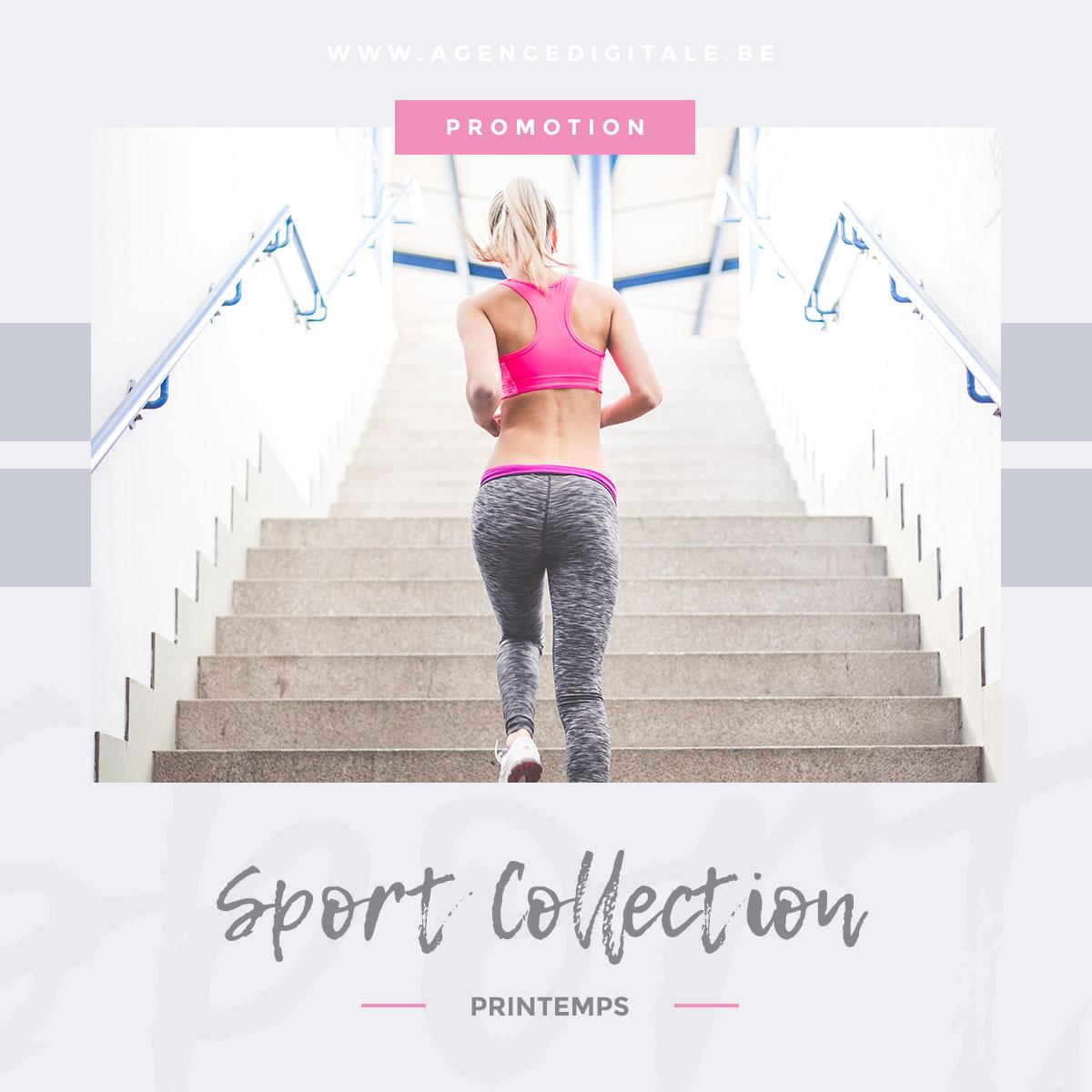 Publication Instagram collection de sport