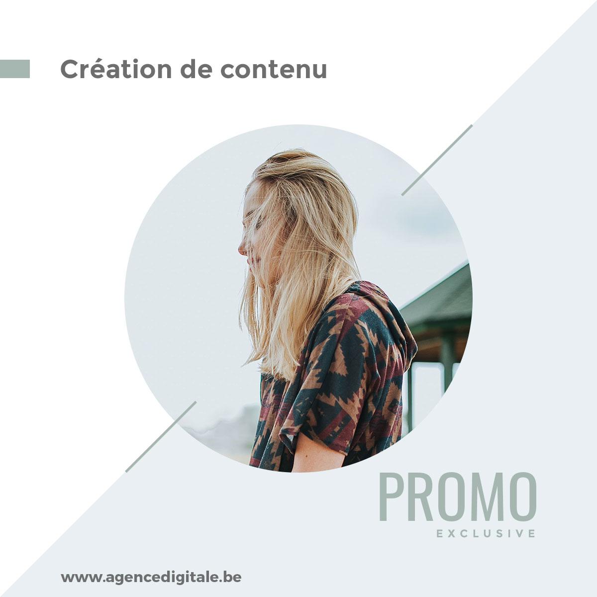 Contenu pour Instagram promotion