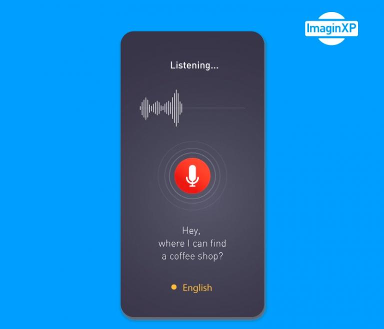 UI design commande vocale