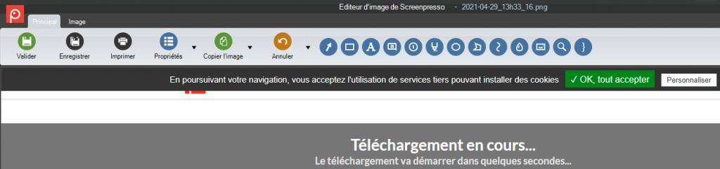 menu edition screenpresso